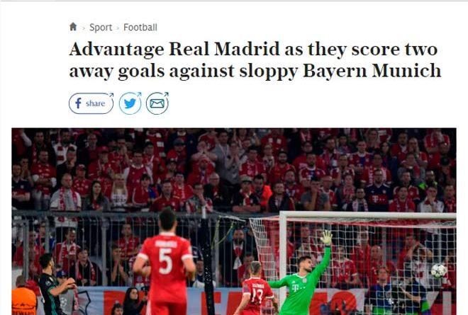 Tờ Telegraph ca ngợi sức mạnh Real