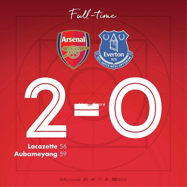 Arsenal 2-0 Everton
