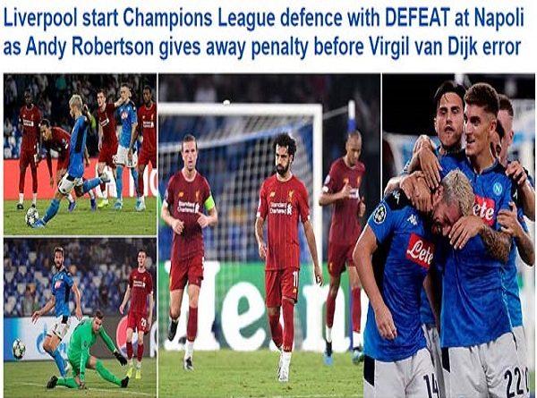 ĐKVĐ Liverpool thua sốc ra quân cúp C1