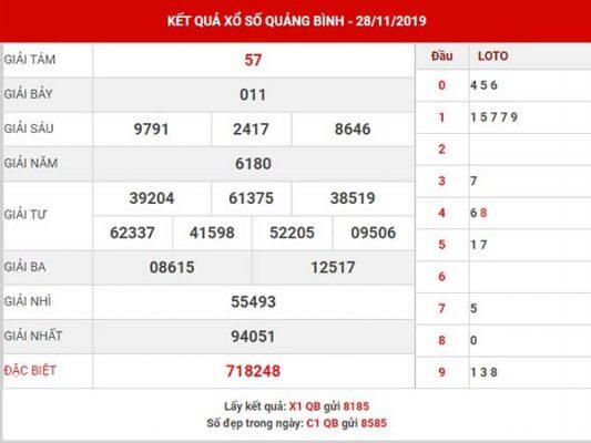Soi cầu kết quả sổ xố Quảng Bình thứ 5 ngày 05-12-2019