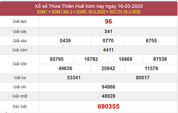 Dự đoán XSTTH 23/3/2020 - KQXS Thừa Thiên Huế thứ 2
