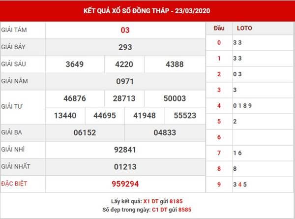 Soi cầu số đẹp sx Đồng Tháp thứ 2 ngày 30-3-2020