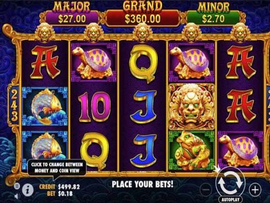 Slot rồng vàng nhiều điểm tương đồng game máy xèng