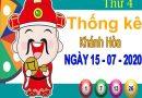 Thống kê XSKH ngày 15/7/2020 – Thống kê xổ số Khánh Hòa thứ 4