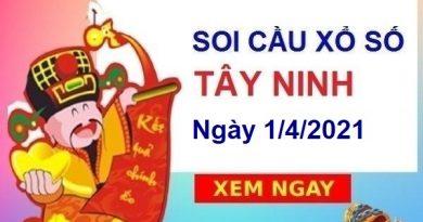 Soi cầu XSTN ngày 1/4/2021 – Soi cầu bạch thủ đài Tây Ninh hôm nay thứ 5