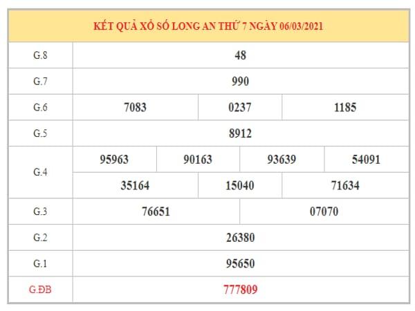 Nhận định KQXSLA ngày 13/3/2021 dựa trên kết quả kỳ trước