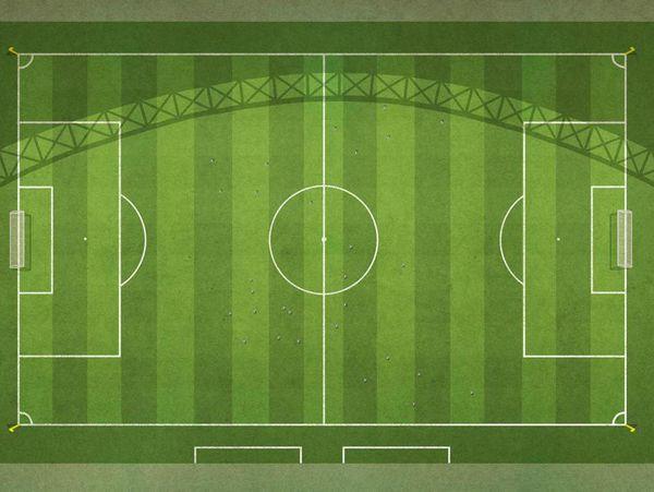 Kích thước sân bóng đá 11 người theo quy định của FIFA