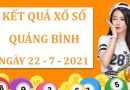 Thống kê KQXS Quảng Bình thứ 5 ngày 22/7/2021